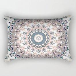 Pastel Boho Chic Mandala Design Rectangular Pillow