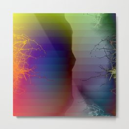 Branching Into Colored Darkness Metal Print