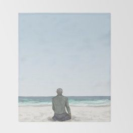 Rowan on the Beach Throw Blanket
