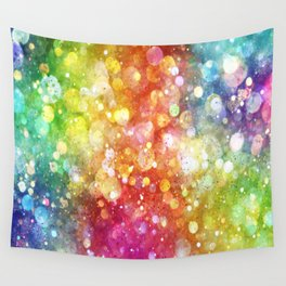 Rainbow of Lights Wall Tapestry