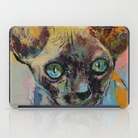 sphynx iPad Cases featuring Sphynx by Michael Creese