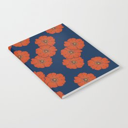 Red floral pattern Notebook