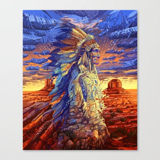 native american colorful portrait Canvas Print