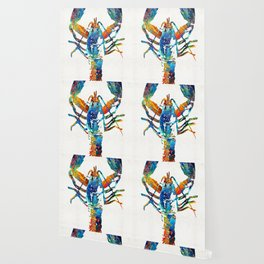Colorful Lobster Art by Sharon Cummings Wallpaper