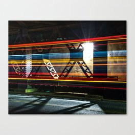 A Bus with Lingering Lines Canvas Print