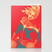 captain silva Stationery Cards featuring Captain by SandraG.N.