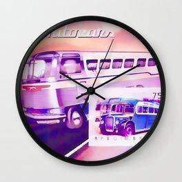 Buses Souvenir Wall Clock