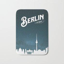 Berlin skyline by night Bath Mat