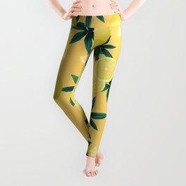 Lemon Twist Vibes #3 #tropical #fruit #decor #art #society6 Leggings