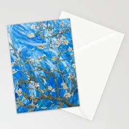 Vincent van Gogh Blossoming Almond Tree (Almond Blossoms) Windswept Stationery Cards