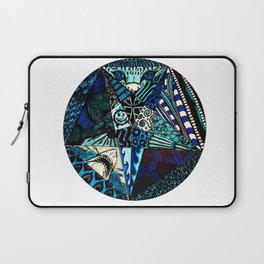 Blue Toned Pentagram Laptop Sleeve