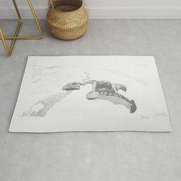 Wingsuit Skydivers_hand-drawn  Rug