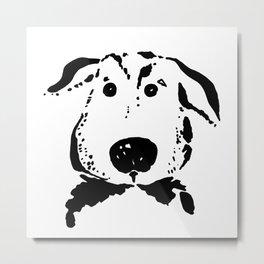 Funny dog portrait. Metal Print