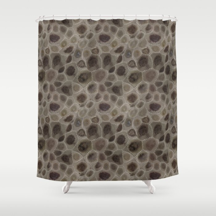 Petoskey Stone Shower Curtain By Karismithdesigns