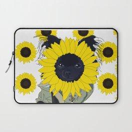 Sunflower Chihuahua Laptop Sleeve