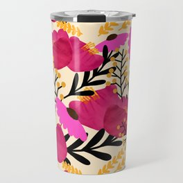 Vibrant Floral Wallpaper Travel Mug