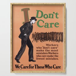 Affiche i dont care   we care for those who care. 1925  Serving Tray