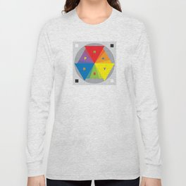 Color wheel by Dennis Weber / Shreddy Studio with special clock version Long Sleeve T-shirt
