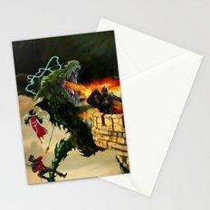 Dragon Burns Castle Stationery Cards