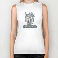 monster hunter Biker Tanks featuring Monster Hunter All Stars - The Dondruma Hurricanes by Bleached ink