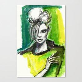 Watercolour fashion portrait Canvas Print