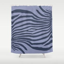 Animal Waves (Cold Mood) Shower Curtain