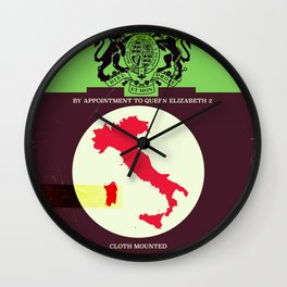 Vintage style Italy Map poster. Wall Clock