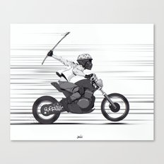 Guerilla Biker Canvas Print