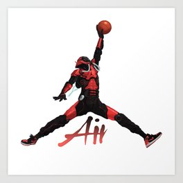 Jumpman Booster Art Print