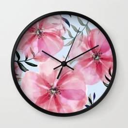 blossom spring floral pattern Wall Clock