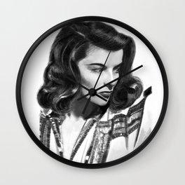 Katharine Hepburn Portrait Wall Clock