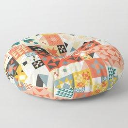 Modern Quilt Pattern Floor Pillow