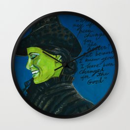 Elphaba-Wicked Wall Clock