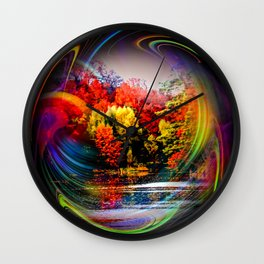 Abstract Perfection 42 Autumn Wall Clock