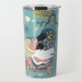 Parrots in Love Travel Mug