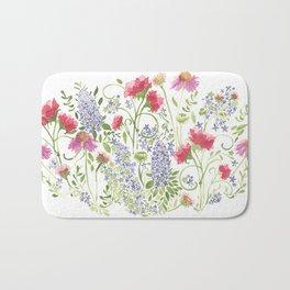 Flowering Meadow - Watercolor Bath Mat