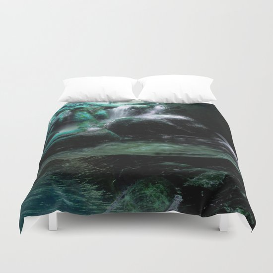 The Tourmaline Showers of the Underground Cavern Duvet Cover