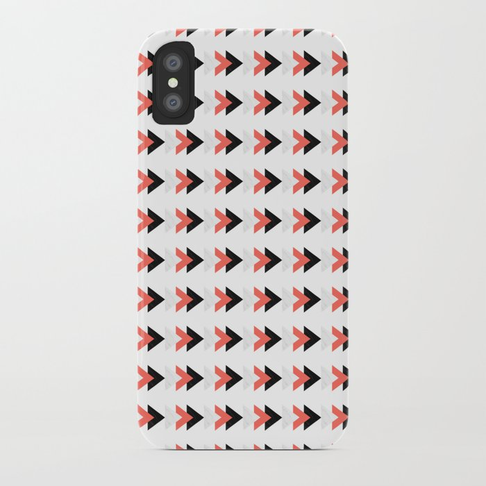 Forward marble coral arrows pattern iPhone Case