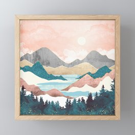 Lake Sunrise Framed Mini Art Print