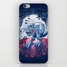 Werewolf Scratching Spooky Fleas iPhone & iPod Skin