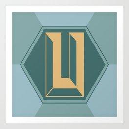 The Letter U Art Print