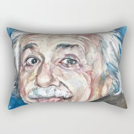ALBERT EINSTEIN - watercolor portrait Rectangular Pillow
