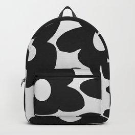 Black Retro Flowers White Background #decor #society6 #buyart Backpack