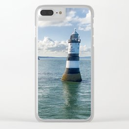 Trwyn Du aerial Clear iPhone Case
