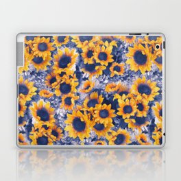 Sunflowers Blue Laptop & iPad Skin