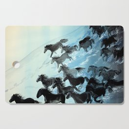 Horses In Surf Cutting Board