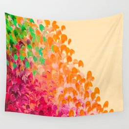 CREATION IN COLOR Autumn Infusion - Colorful Abstract Acrylic Painting Fall Splash Ombre Ocean Waves Wall Tapestry