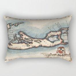 Vintage Map of Bermuda (1694) Rectangular Pillow
