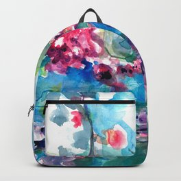 CHERRY TREE MIRRORING IN THE WATER - WATERCOLOR Backpack