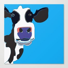 Cow in the Blue Sky Canvas Print